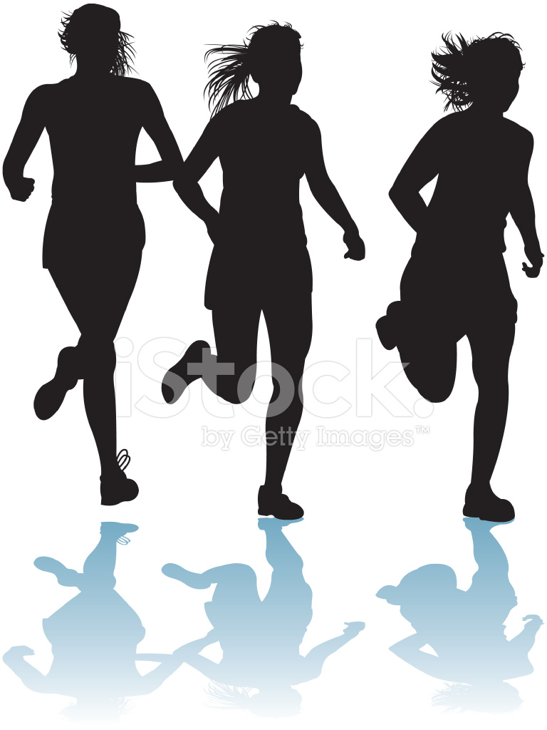 Girl Running Silhouette | Free download best Girl Running ...