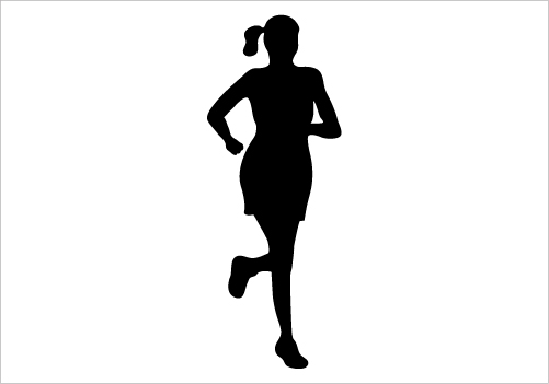 501x351 Running Girl Silhouette Graphics Silhouette Graphics
