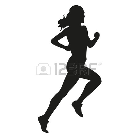 450x450 Running Woman Silhouette Royalty Free Cliparts, Vectors, And Stock