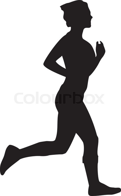 494x800 Running Jogging Woman Silhouette Stock Vector Colourbox