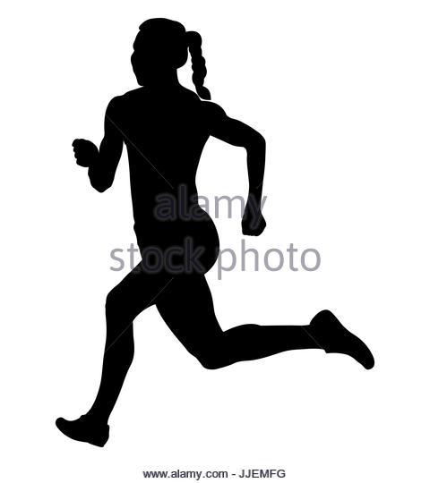 480x540 Silhouette Girl Running Black And White Stock Photos Amp Images