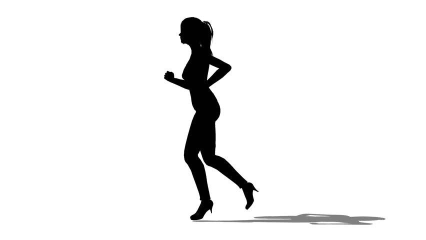 852x480 Silhouette Of Woman Running Stock Footage Video 3000832 Shutterstock