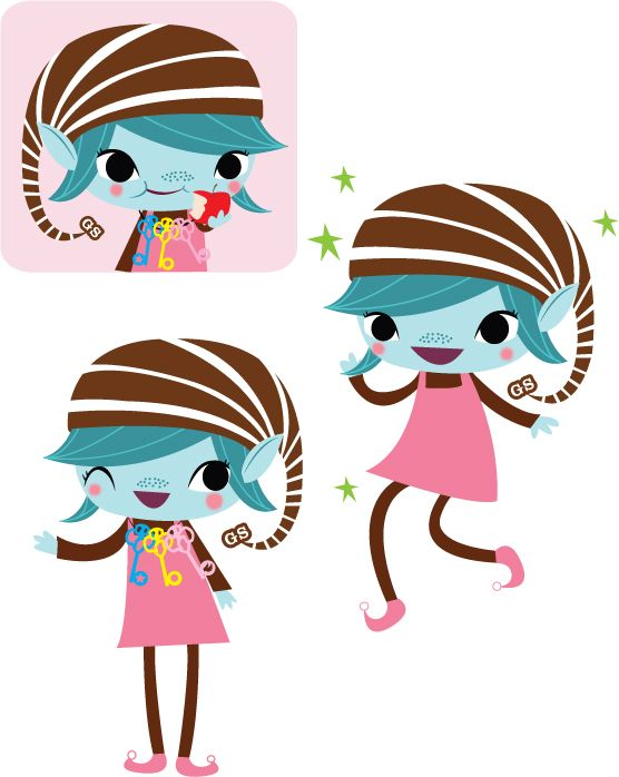 556x698 Brownie Logo Clip Art Brownie Elves For The Girl Scouts