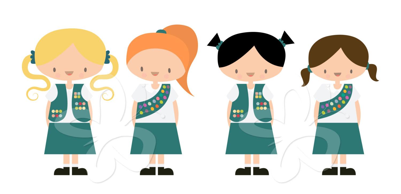 1500x726 Junior Girl Scouts Clip Art