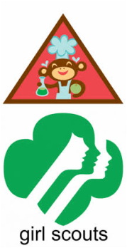 179x348 Home Scientist Girl Scouts Brownie Patch