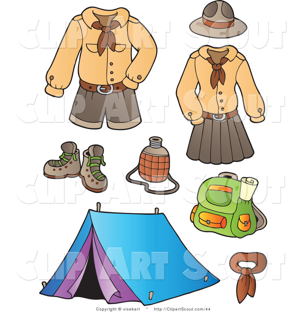 1024x1044 Collage Clipart Camping Equipment