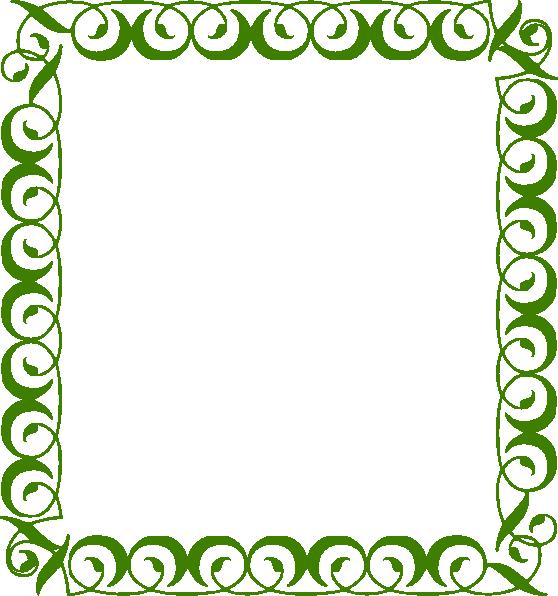 558x596 Green Border Clip Art