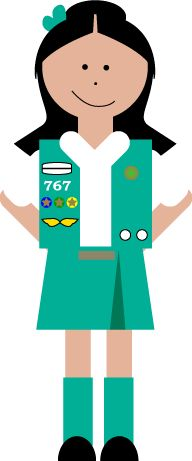 192x461 39 Best Girl Scout Clipart Images Boy Scouting