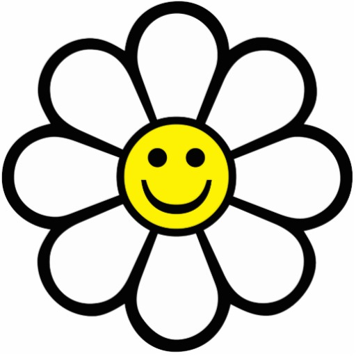 512x512 Smiley Daisy Photo Cutouts