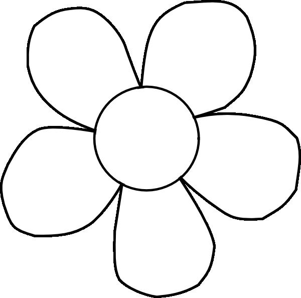 600x594 Black And White Daisy Clip Art