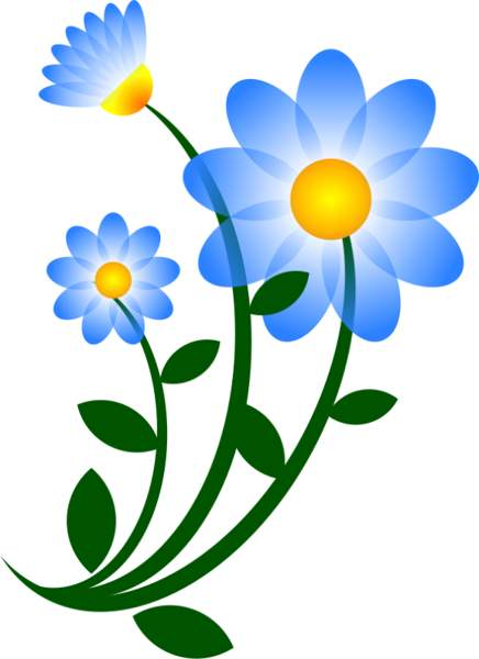 436x600 Blue Daisy Clip Art