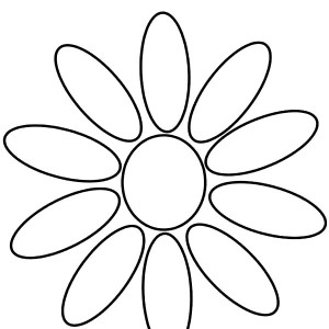 300x300 Daisy Flower Daisy Girl Scout Petals Coloring Page Daisy Flower