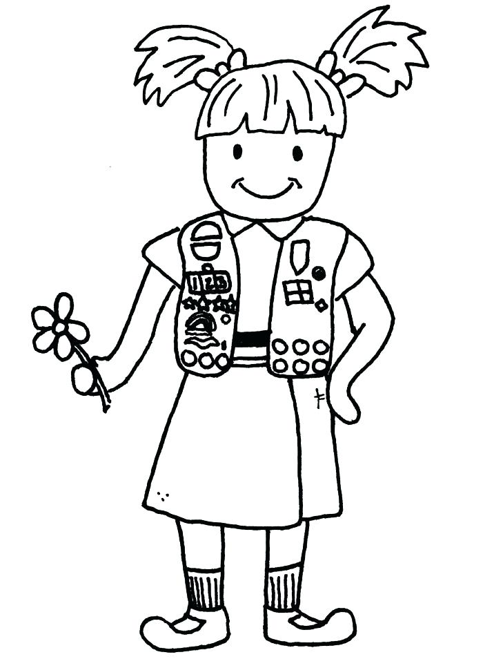 700x954 Daisy Girl Scout Promise Coloring Pages Thaypiniphone
