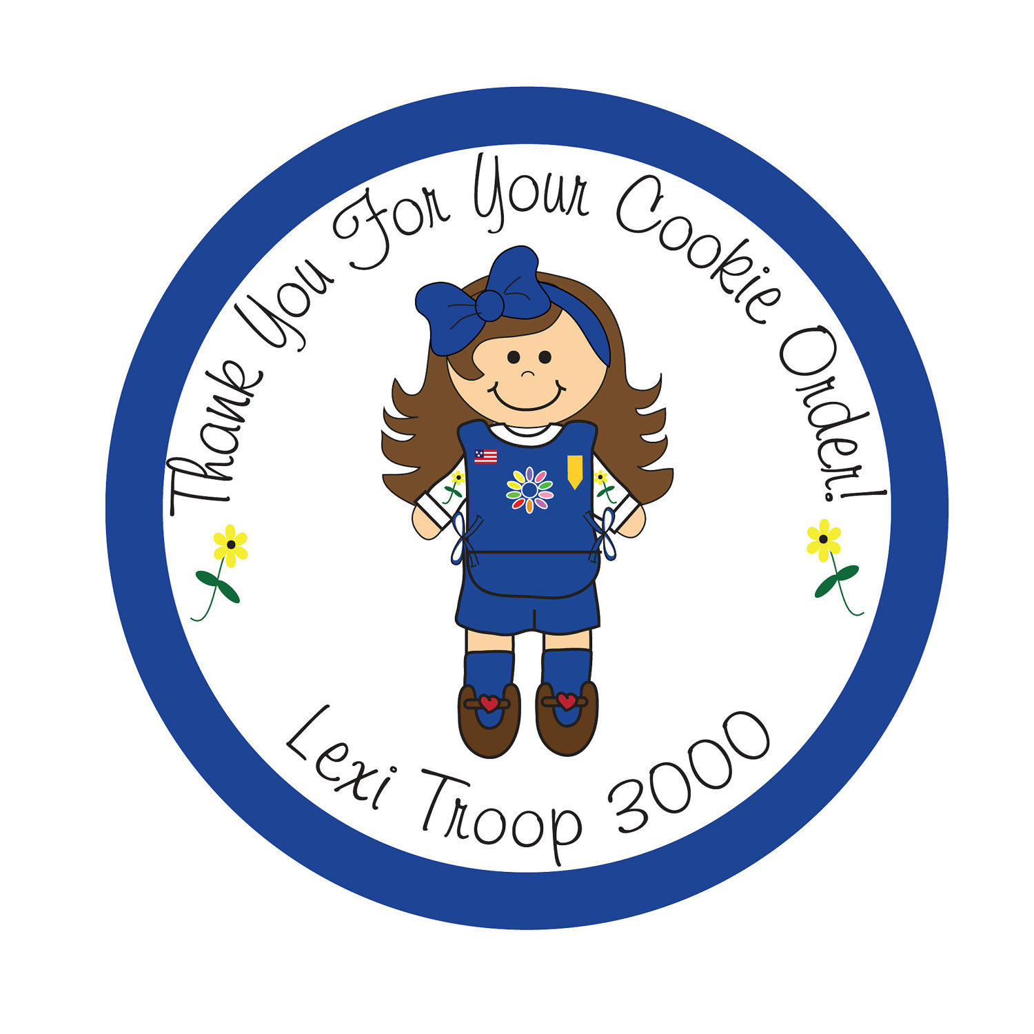 1500x1500 Clipart Daisy Girl Scout