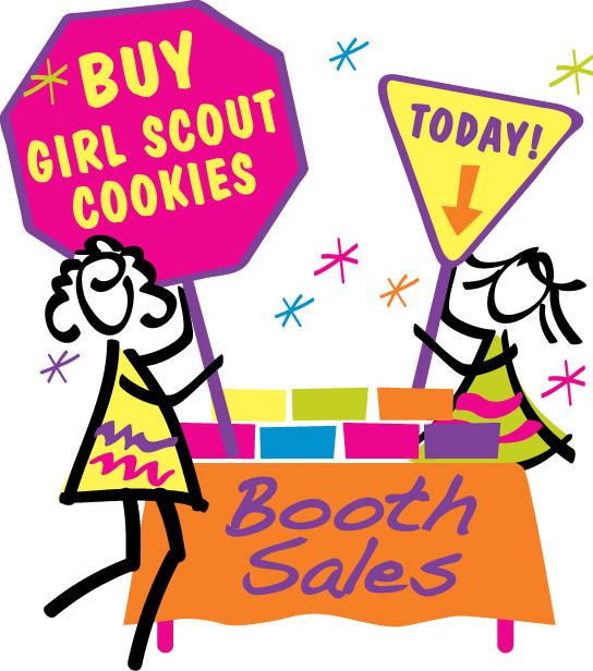 544x616 Girl Scout Cookie Booth Clipart