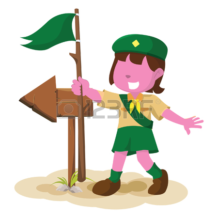 450x450 824 Girl Scout Cliparts, Stock Vector And Royalty Free Girl Scout