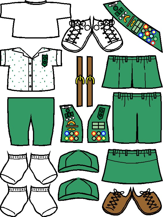 564x750 Uniforms For Junior Girl Scout Friends In Color