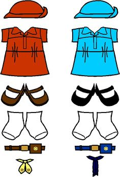 236x346 Girl Scout Cadette And Senior Clothes For Paper Dolls From Making