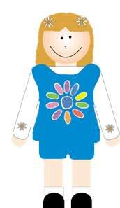 172x297 Daisy Girl Scout Clipart