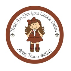 236x236 Brownie Girl Scout Clipart