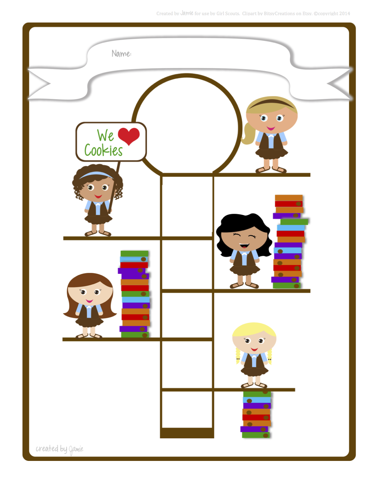 1236x1600 My Fashionable Designs Girl Scouts Cookie Goal Poster