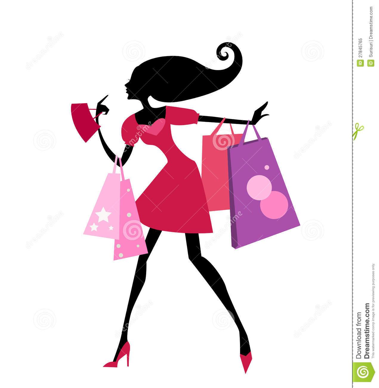 Girl Shopping Clipart | Free download best Girl Shopping ...