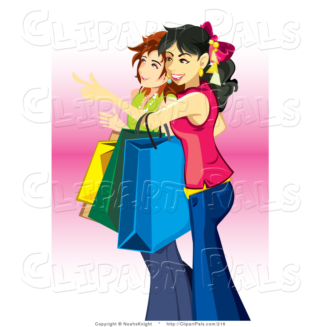 1024x1044 Pal Clipart Of A Couple Of Young Teenage Caucasian Girls Carrying
