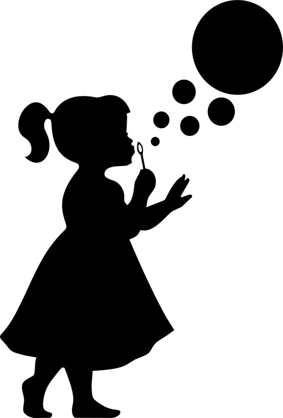 570x841 Imgs For Gt Silhouette Little Girl Blowing Bubbles Projects