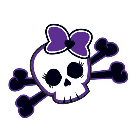 450x450 Skull Purple Bow Tattooforaweek Temporary Tattoos Largest