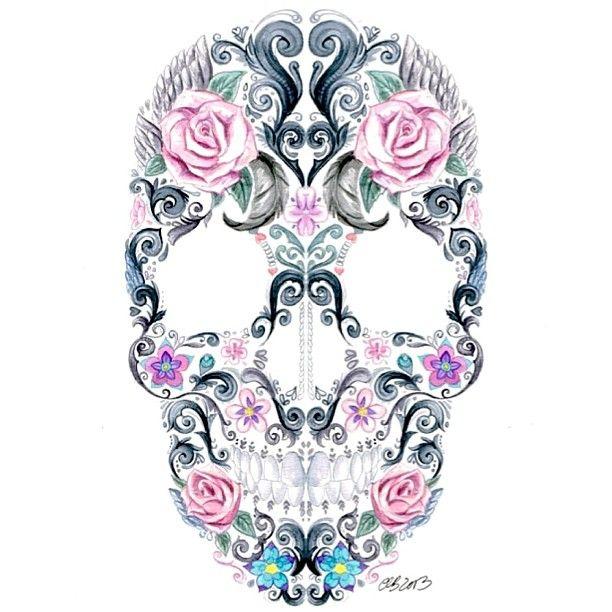 612x612 559 Best (Sugar) Skulls And Cross Bones Images Art