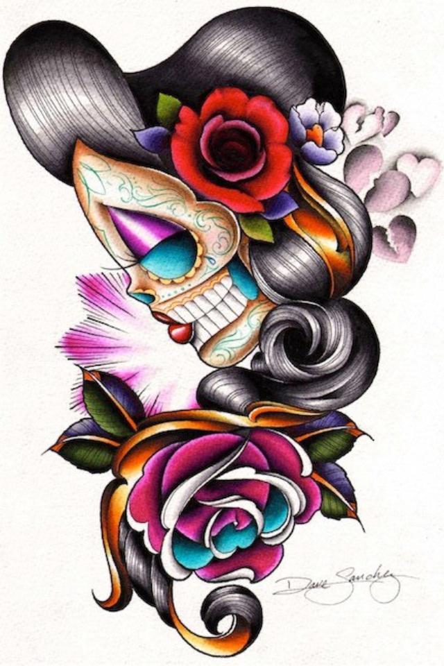 640x960 62 Best Sugar Skull Art Images Skull Art, A Tattoo