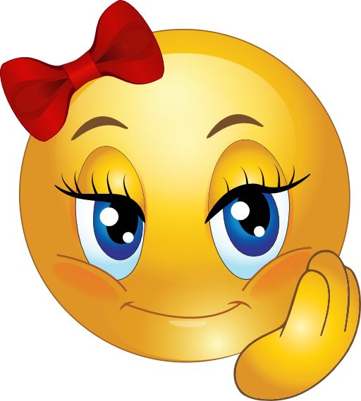 512x569 Free Girl Smiley Face Clipart Image