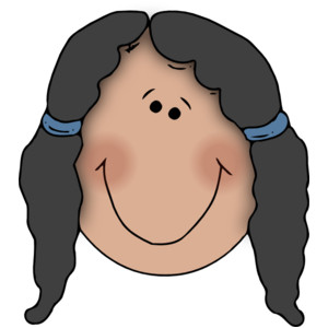 300x300 Girl Face Girl Smiley Face Clipart Free Images 4