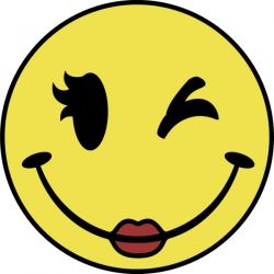 250x250 Happy Face Girl Clipart