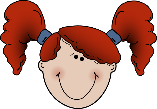 600x419 Happy Face Girl Clipart
