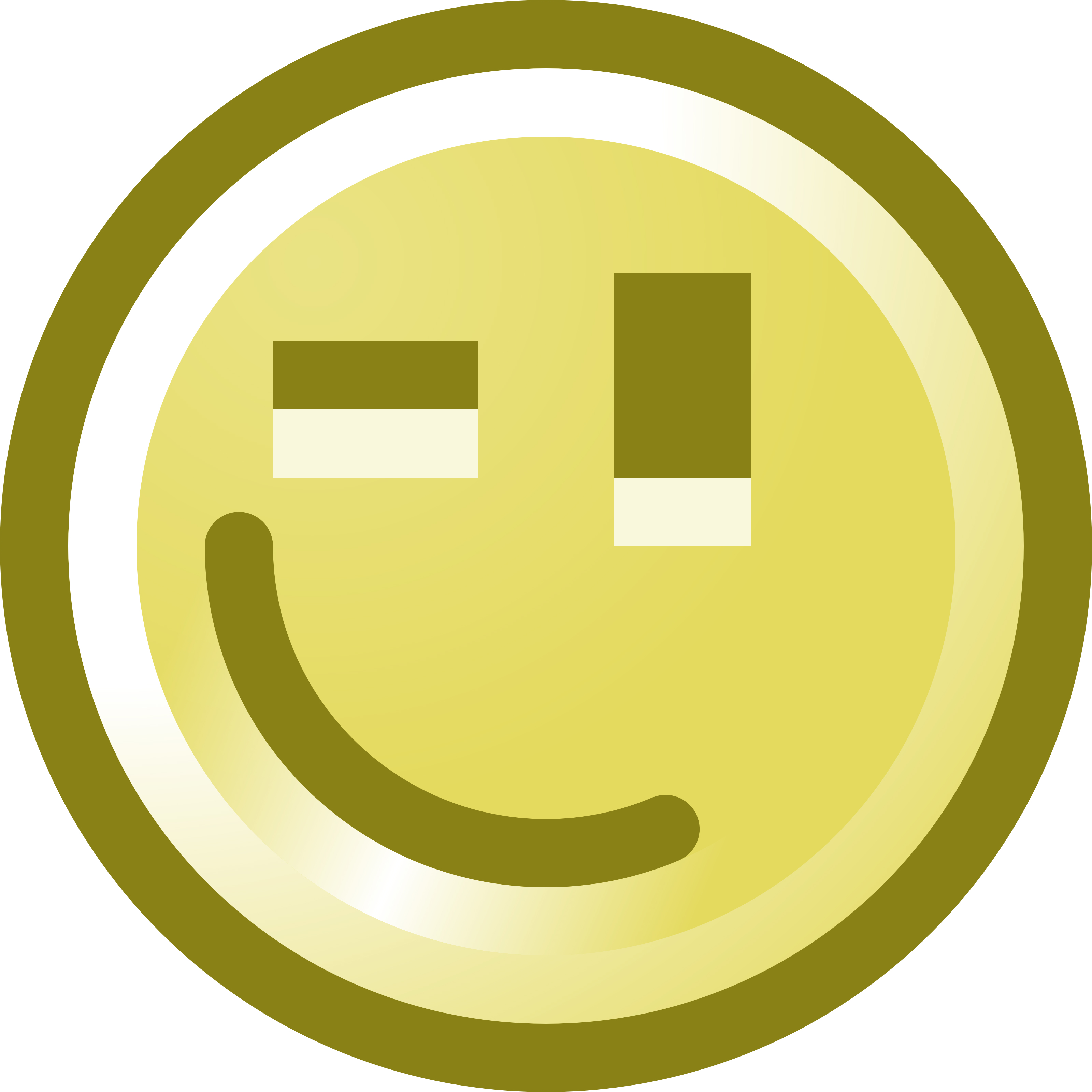 3200x3200 Winking Smiley Face Clip Art Illustration