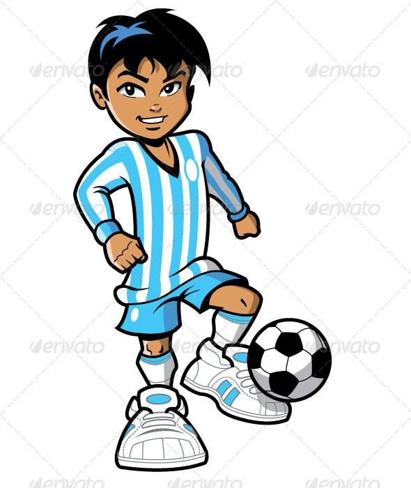 Girl Soccer Player Clipart