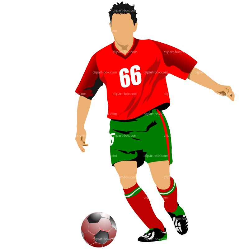 800x800 Free Soccer Player Clipart Image