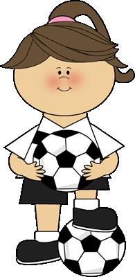 195x400 Girl Soccer Player Clip Art