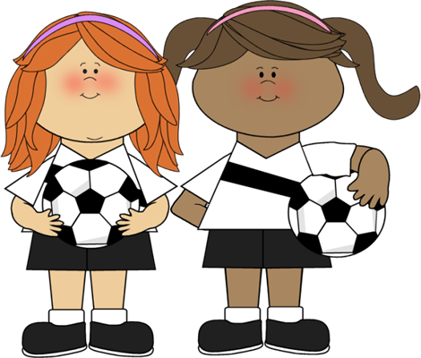 470x400 Girls Soccer Clip Art
