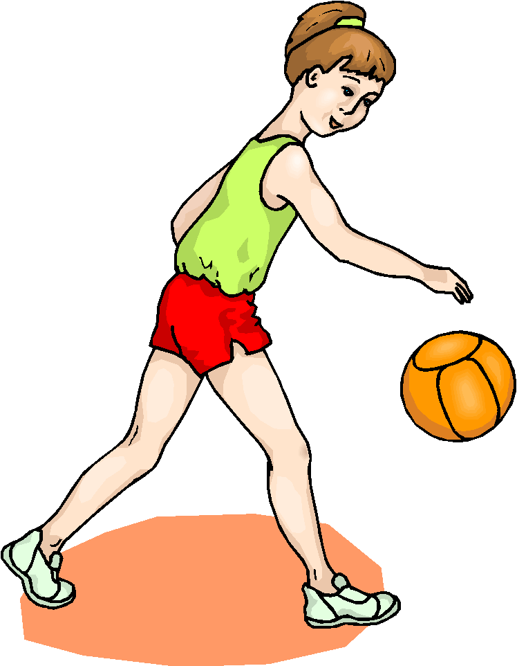 748x962 Volleyball Player Clipart