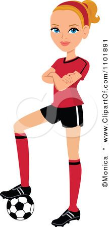 218x450 Blonde Clipart Soccer Player