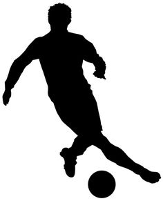 236x291 Football (Soccer) Player With Ball, Isolated On White. Vector
