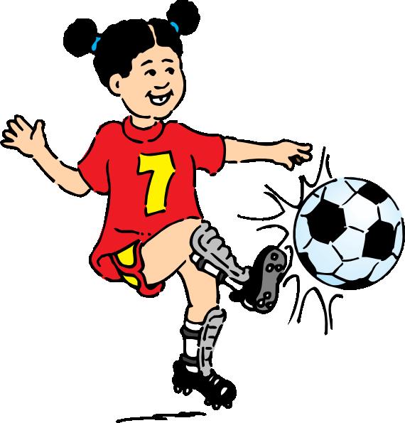 570x595 Football Girl Clip Art