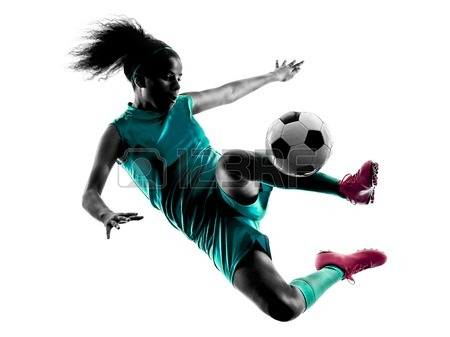 450x337 Girl Soccer Player Silhouette Stock Photos Amp Pictures. Royalty