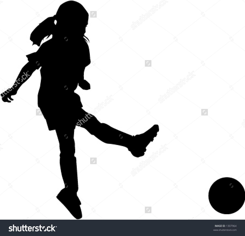 1500x1443 Girl Hitting Soccer Ball Clipart