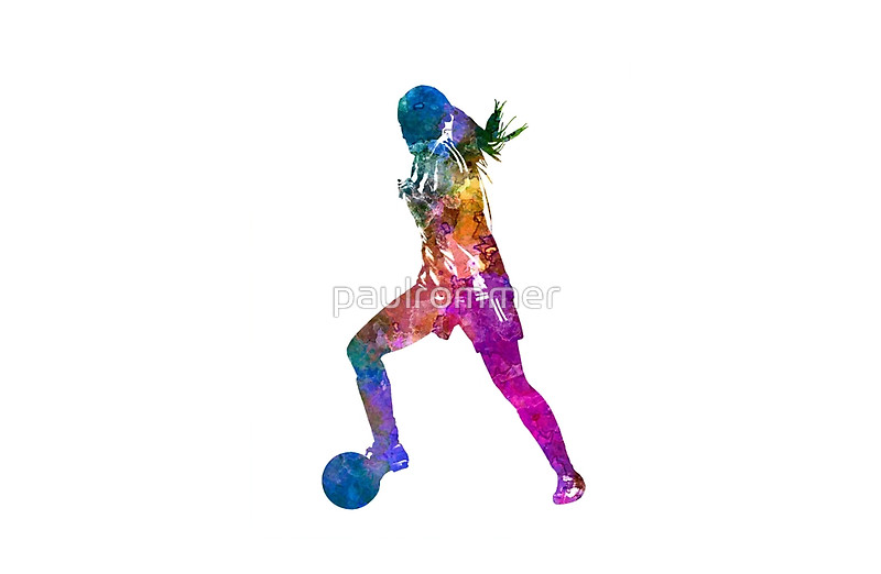 800x522 Girl Playing Soccer Football Player Silhouette Laptop Skins By