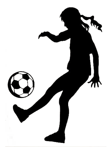 371x500 Girl Soccer Player Silhouette Free Vector