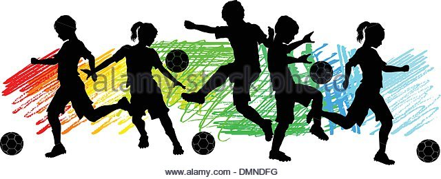 640x260 Illustration Silhouette Soccer Player Kicking Stock Photos