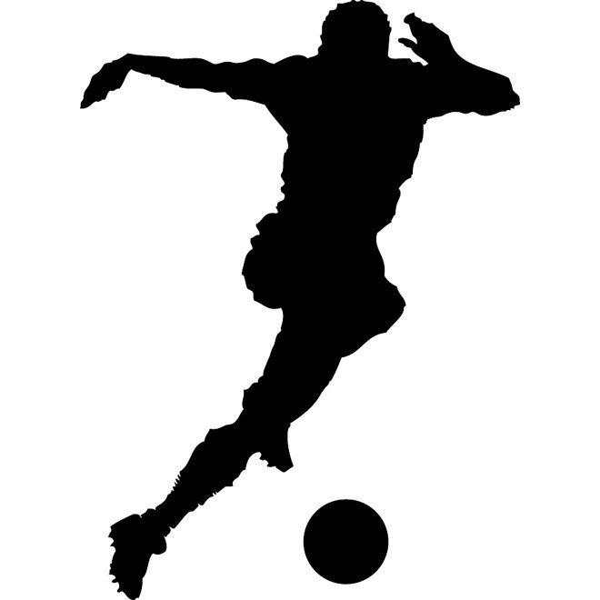 660x660 Soccer Player Silhouette Free Vector 123freevectors
